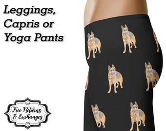 German Shepherd Leggings • German Shepherd Yoga Pants • German Shepherd Clothing  • German Shepherd Mom • GSD Mom • German Shepherd Gift
