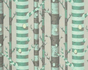 Bumble Forest Stripe Jade cotton quilting fabric by Tula Pink for Free Spirit and Westminster Fibers - PETP003 JADE