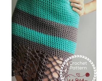 Laguna Crochet Dress Pattern, Lacey Sun Dress Crochet Pattern, Instant PDF Download
