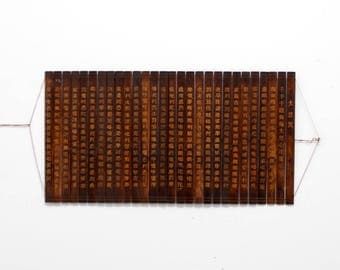 antique Chinese slat book, Chinese wooden slips