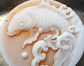 Koi Soap, Koi Fish Soap, Round Koi Fish Soap, Detailed Fish Soap