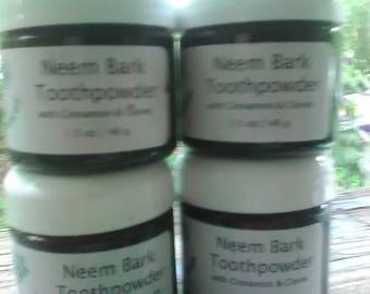 Neem Bark Toothpowder with Cinnamon & Cloves