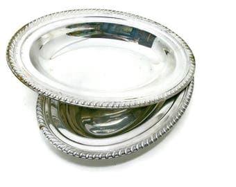 Vintage Silver Plate Serving Bowls - Set of 2 - Vegetable Servers - Table Setting
