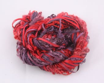 Merlot Red Blackberry Purple Silk embroidery Thread Silk ribbon sewing Hand Dyed Variegated quilting thread weaving yarn quilting fibre art