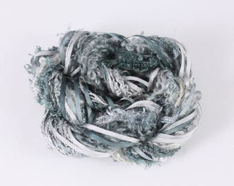 Stormy Night black Grey Pewter Slate Silk embroidery Thread Silk ribbon weaving supplies Hand Dyed Variegated threads sewing quilting thread