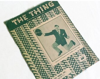 """40% OFF NOW Rare 1950 Sheet Music Novelty Song: """"The Thing"""", Catchy Silly Song, Mid Century Pop Song, Phil Harris"""
