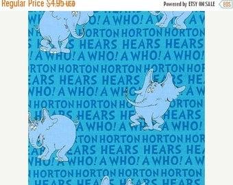 CIJ Horton Hears A Who, Blue, Dr. Seuss Robert Kaufman Fabrics