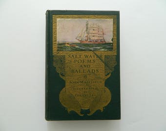 Salt Water Poems and Ballads. Rare Antique Illustrated Nautical Book.