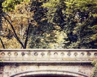 New York City Wall Art, Dalehead Arch Photograph in Central Park, Autumn in New York Print or NYC Canvas Art, Central Park Fall Decor.