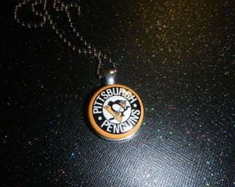 Pittsburgh Penguins Hockey Necklace Pendant