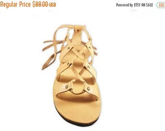 ON SALE Ancient Style Roman Greek Sandals, Women/ Men Gladiator Sandals, Lace Up Handmade Leather Sandals - MAGIC
