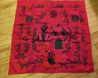 """handwoven silk scarf 32"""" square gorgeous scarves"""