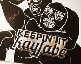 Kayfabe enamel lapel wrestling pin