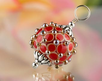 Red and Ivory Byzantine Pendant