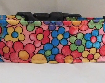 Dog Collar, Martingale Collar, Cat Collar - All Sizes - Wildflowers
