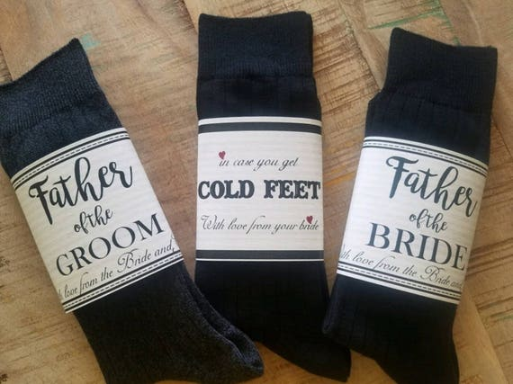 Wedding Cold Feet Sock Wrap Cold Feet Label Groom Gift