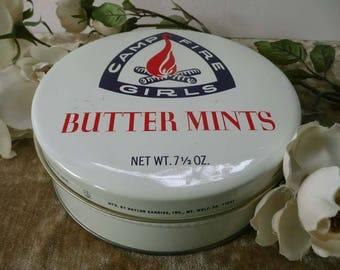 Vintage Camp Fire Girls Butter Mints Tin