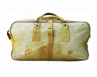 Vintage Leather Duffel Carry On LARGE Weekender Butter Soft