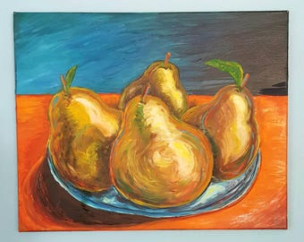 Pears in Bowl 002 20x24