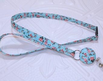 Lanyard - Id Badge Holder - Id Holder - Key Lanyard - Teacher Lanyard - Fabric Lanyard - Keychain - Breakaway Retractable Badge Lanyard