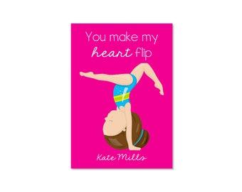 Gymnastics Valentine Classroom Card