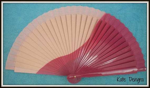 Three Tone Pink Design Spanish Hand Fan Limited Edition