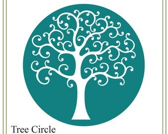 Tree svg, tree of life svg, tree circle svg, nature svg, family tree svg, tree illustration, greeting cards, signs, iron on tree, printable