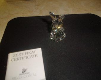 vintage retired swarovski crystal bunny rabbit figurine mint in box