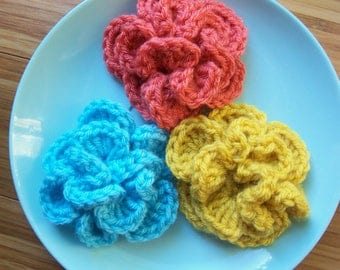 Crochet Carnation PDF Pattern for Hat Headband Brooch
