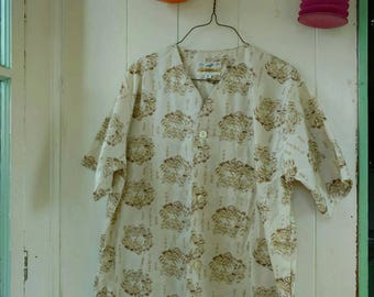 Vintage Pyjamas Summer Short Sleeve Boxer Shorts Forsyth Size Medium Large