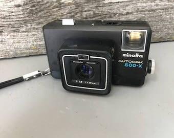 Vintage Minolta Autopak 600-X Film Camera