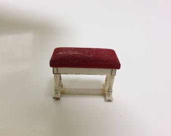 Vintage doll house Piano stool