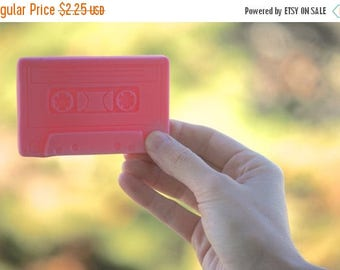 Back To School Sale Girl, I made you a mixtape cassette soap tape 80s retro pastel cotton candy pink vegan girlfriend bachelorette party fav