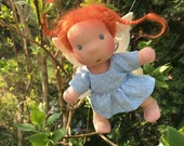 Custom Mini Fae Doll - 5 in. fairy doll handmade following your color wishes