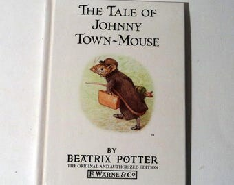 Beatrix Potter Childrens Book Vintage Book The Tale of Johnny Town-Mouse