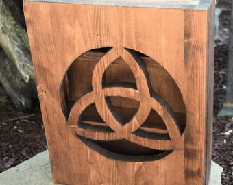 Triquetra Crystal or Essential Oil Cabinet