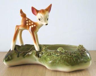 Vintage Disney Bambi Ceramic Planter