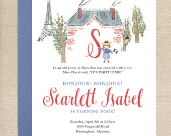 Watercolor Madeline Invitations