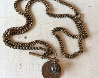 One of a kind vintage assemblage necklace