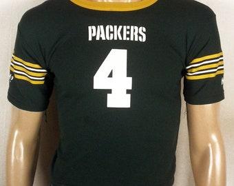 vtg 90s Hutch Green Bay Packers #4 Jersey Brett Favre SZ youth S