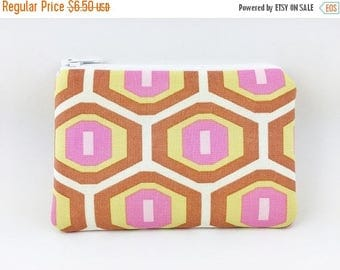 Summer SALE - Honeycomb Coin Purse, Mini Wallet, Change Purse, Card Pouch, Gift idea, Padded Pouch, Earbud Case
