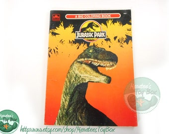 vintage jurassic park coloring book 1990s used - Jurassic Park Coloring Book