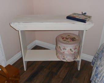 Farmhouse Foyer Table   Rustic Wood Console Table   Narrow Sofa Table    Primitive Table Shelf