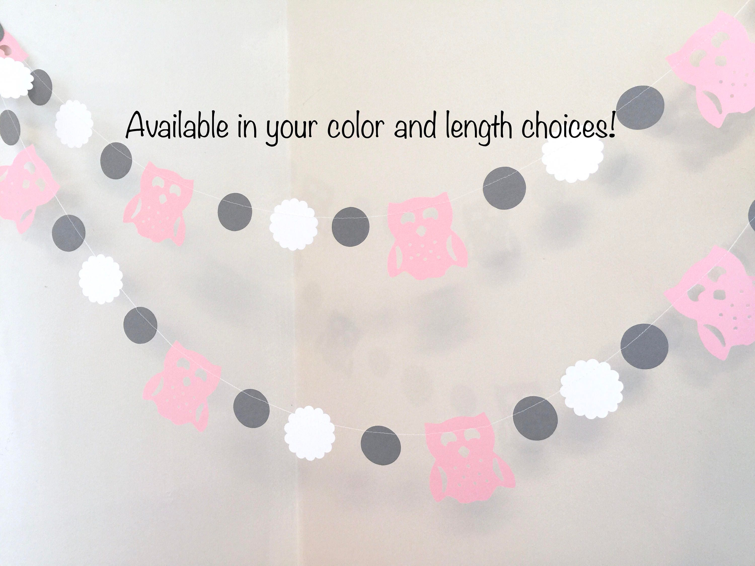 Owl Baby Shower Decorations   Pink And Gray Baby Shower   Girls Woodland  Owl Birthday Banner