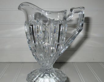 Antique Francis Cream pitcher Clear Central Glass Circa 1928 broken column,charming glass,tabletop,tableware,Shabby Chic