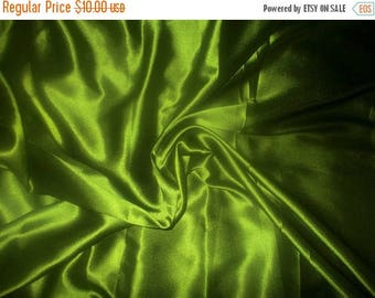 15% off on One yard of olive Poly Silk Satin fabric
