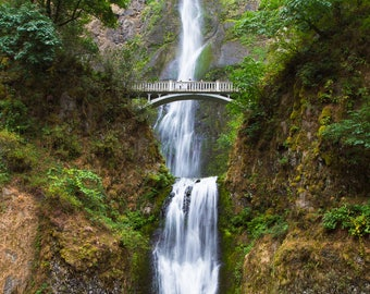 Multnomah Falls Photography, Waterfall Oregon Columbia River Gorge Art Print Pacific Northwest Nature