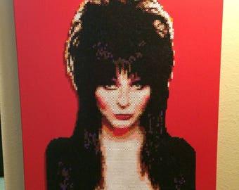 Elvira Mistress of the Dark | Movie Macabre | Cassandra Peterson | Elvira Fan Art | 24x30 Canvas