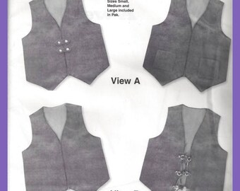 Men's VEST Pattern Tandy Leather Canvas Fabric Size Small Medium Large 626600