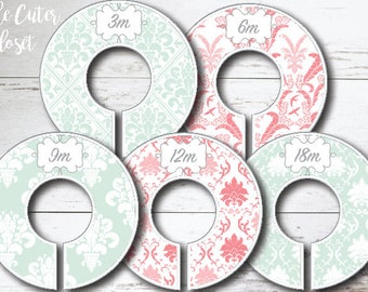 Baby Closet Dividers - Spring Patterns Mint